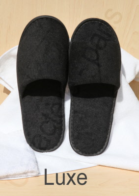 6b2852c0db35 Disposable Black Luxury Slippers for Hotels